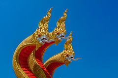 Naga sculpture Royalty Free Stock Images
