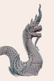 Naga sculptures Royalty Free Stock Photography
