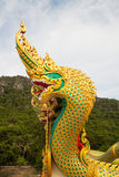 Naga. Serpent is the legend animal in Thailand Stock Photos
