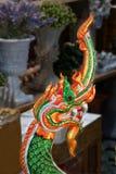 Naga of serpentstandbeeld, het geloof van Boeddhisme, Thaise tempel stock afbeeldingen