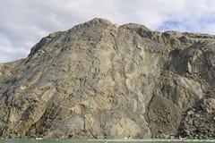 Naga skała po lodowa Cofa się Obrazy Stock