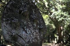 Naga snake guard statue in cambodia Stock Photos