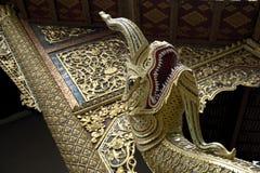 Naga snake guard statue in cambodia Thailand Royalty Free Stock Photos