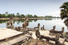 Naga at Srah Srang in Angkor Royalty Free Stock Photos