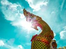Naga stair sunshine is art of culture Stock Photos