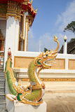 Naga at staircase in Thai Temple Stock Images