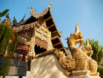 Naga starway in Wat Chedi Luang, Chiang Mai Stock Afbeelding