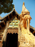 Naga starway at Wat Chedi Luang, Chiang Mai Royalty Free Stock Images