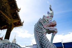 Naga statua w świątyni Obraz Stock