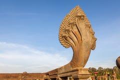 Naga statue in Angkor Wat, Siem Reap, Cambodia. Royalty Free Stock Image