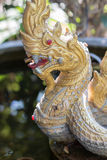 Naga statue. Crafted with cement for home use to beauty Stock Photos