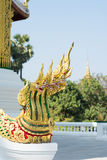 Naga statue at Haw Pha Bang Stock Image