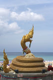 Naga statue karon beach phuket thailand Stock Photography