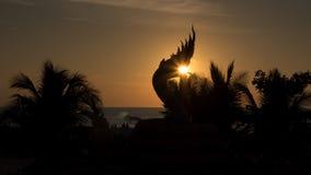 Naga statue Karon beach Royalty Free Stock Photos
