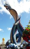 Naga statue , Phu manorom,Mukdahan royalty free stock photography