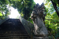 Naga statue stairs Stock Photography