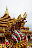 Naga statue at thai temple Royalty Free Stock Image