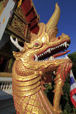 A naga statue of thai temple Royalty Free Stock Photos