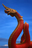 Naga statue of thailand Royalty Free Stock Image