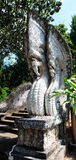 Naga statue in Thailand Stock Image