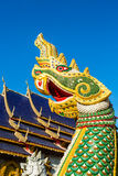 Naga statue  wat ban-den , chiangmai province Thailand Royalty Free Stock Photography