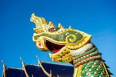 Naga statue  wat ban-den , chiangmai province Thailand Royalty Free Stock Images