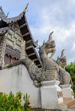 Naga statue at Wat Chedi Luang temple in Chiang Mai, Thailand Stock Photography