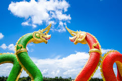 Naga statues Royalty Free Stock Photos