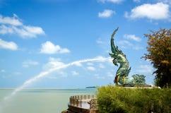 Naga statues Stock Image