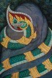 Naga, Thai ancient mural Royalty Free Stock Photo