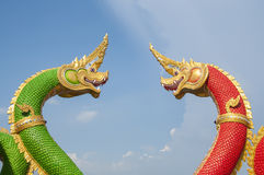 Naga Thai dragon statue. Stock Images