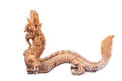 Naga Thai sculpture Royalty Free Stock Images