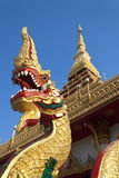 Naga at Thai temple Stock Photos