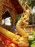 NAGA-THAILÄNDISCHE STATUE Lizenzfreie Stockfotos