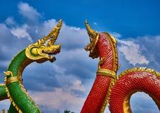 Naga twee in tempel Royalty-vrije Stock Fotografie