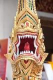 Naga-Wächter bei Wat Pra Singh, Chiang Mai, Thailand Lizenzfreies Stockbild