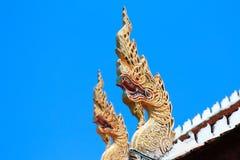 Naga w Wacie Phra Singh, świątynia w Chiang Mai, Tajlandia fotografia royalty free