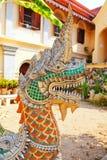 Naga in Wat Chiangman, Chiang Mai Royalty Free Stock Image