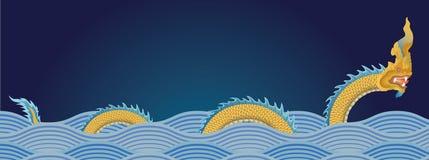 Naga, waterdraak Royalty-vrije Stock Afbeeldingen