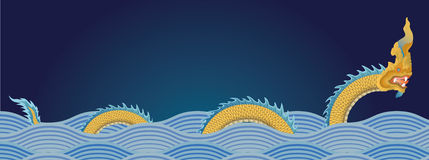 Naga, wodny smok Obrazy Royalty Free