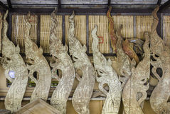Naga wood carving wood Stock Image
