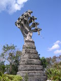 Naga zeven rond Boedha stock foto