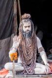 NagaBaba på Kumbha Mela Royaltyfria Bilder