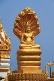 NagaBhuddha staty Royaltyfri Fotografi