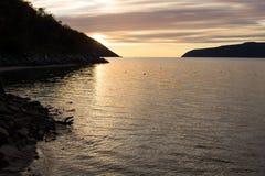 Nagaev海湾  免版税库存照片
