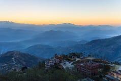 Nagakot村庄,尼泊尔 免版税库存照片