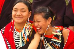 nagaland de l'Inde de hornbill de festival photographie stock libre de droits