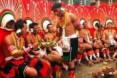 nagaland de l'Inde de hornbill de festival Photos stock