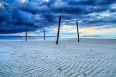 Nagalang beach. Pole and cloud with beautiful sunrise Stock Image