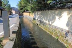 Nagamachi samurajområde Kanazawa Japan Royaltyfria Foton